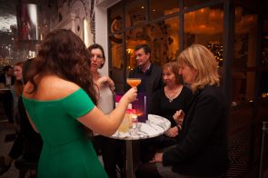 Hotel PR photograph of guests at Tigerlily cocktail masterclass