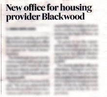 Blackwood's positive media profile thanks to successful care PR