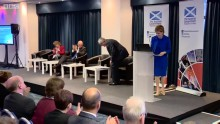 Nicola Sturgeon addresses the issue of cyber crime in Scotland, along with Mandy Haeburn-Little of the Scottish Business Resilience Centre.