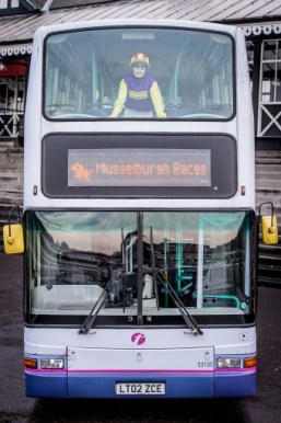 Musselburgh Racecourse Double Decker Bus