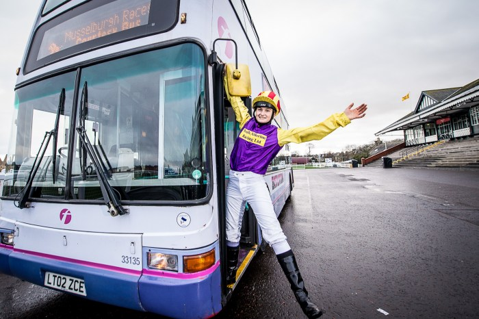 Musselburgh Racecourse Double Decker Bus