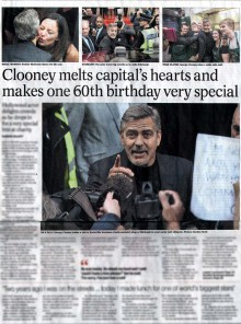 Clooney Coverage Food and Drink PR