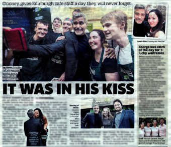George Clooney coverage for Food and Drink PR