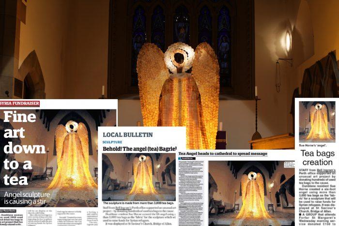 TEA BAG ART BY BELL INGRAM SUCCESS COVERAGE MONTAGE 2015 CHRISTMAS ANGEL
