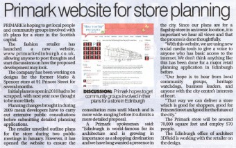 Primark's planning website earned major praise. It was part of a public relations campaign by Holyrood PR in Scotland