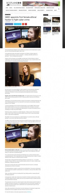 25 JAN ScotlandB2B SBRC Lisa Hacker