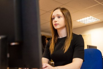 PR photography of Lisa Fiander Student Ethical Hacker at Scottish Business Resilience Centre