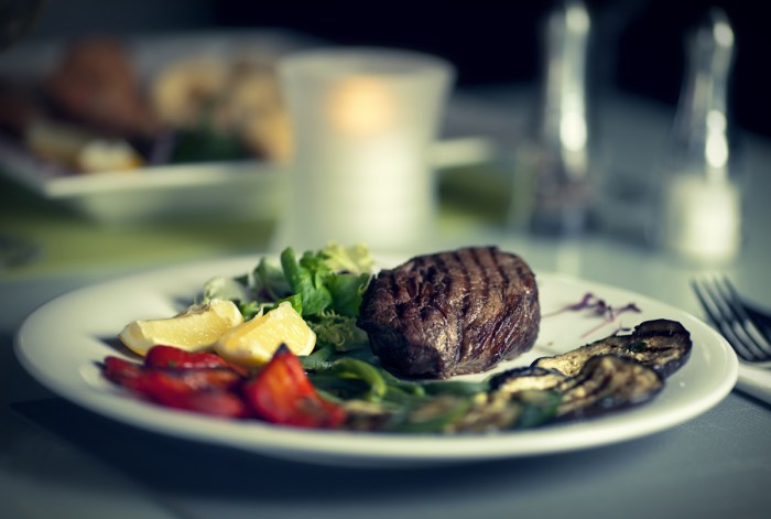A delicious beef dish from the menu at Italian restaurant, Rigatonis