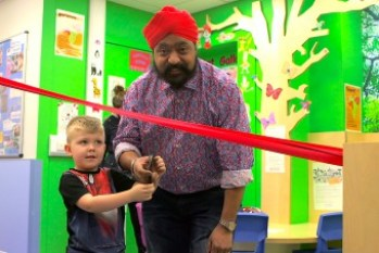 Tony Singh opens A&E Department for Sick Kids Friends Foundation
