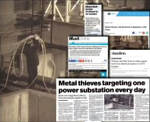 Coverage of Metal Theft Campaign