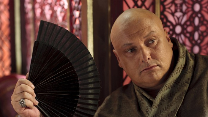 Varys the master of whisperers in Game of Thrones