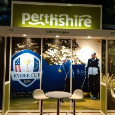 Golf Perthshire stand