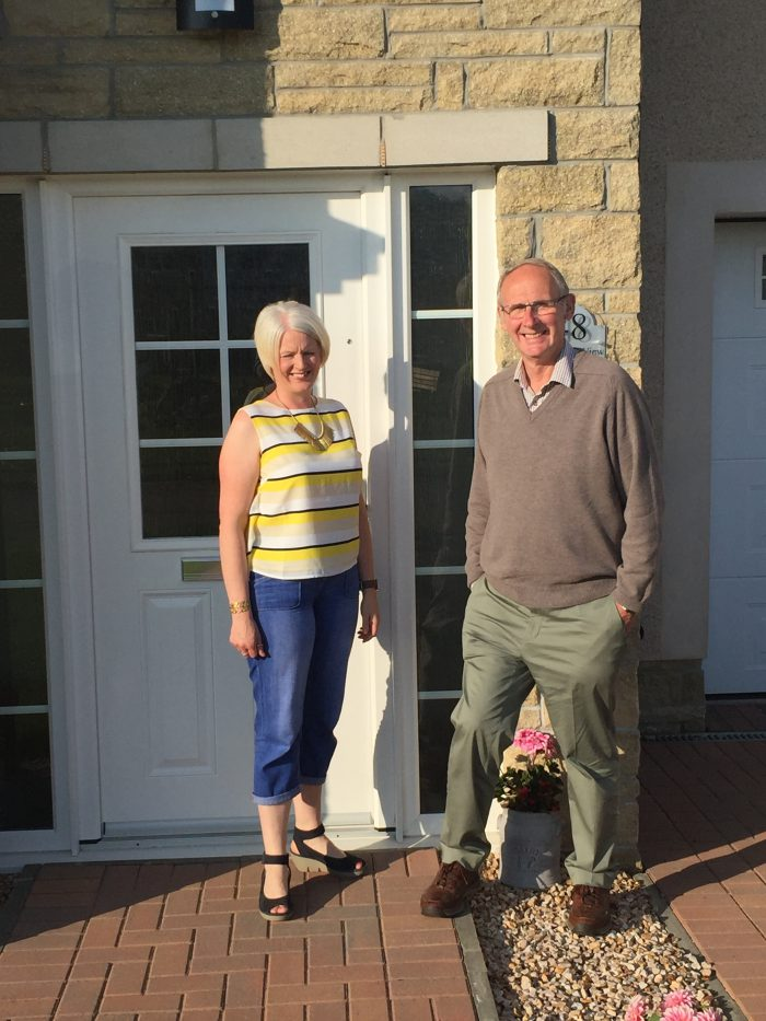Jim and Janis Spowart at CALA Homes Murieston Gait