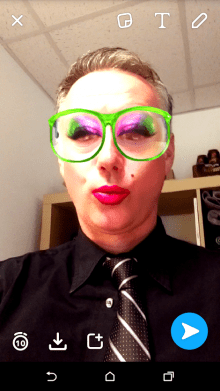 Image of Holyrood PR Director Scott Douglas using a Snapchat Filter