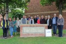Bield tenants gathered around Miner's stone