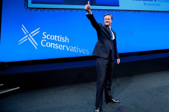 David Cameron photo for Scottish PR Agency Analysis