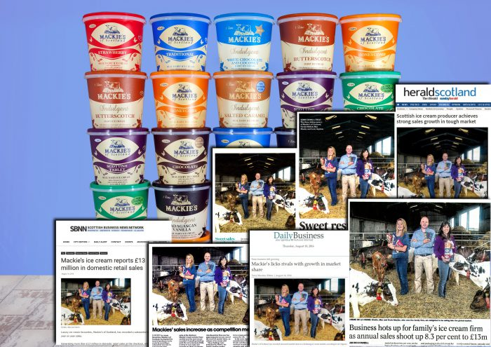 Year Supply of Mackie's Ice Cream montage for Food and Drink PR