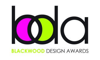 Blackwood Design Awards 2016 logo, with pink in the b and green in the d