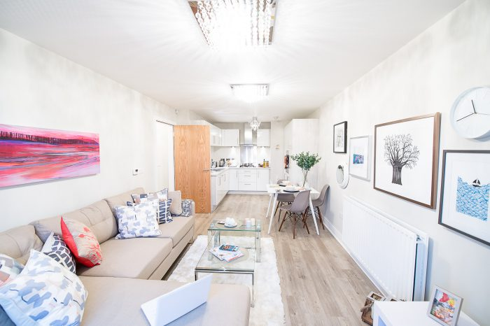 Inside on of CALA homes newly transformed apartments in Dalmeny Park