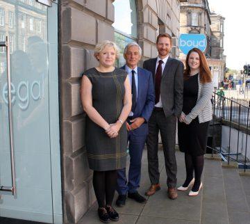 Boyd Legal internal promotions team. Pictured L-R; Rachel Brandon, Peter Boyd, Graeme Thomson, Claire Ferguson