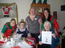 Residents having a Christmas themed lunch. Eventful PR for three Lanarkshire care homes who hosted a 'Come Dine With Me' style competition with their residents.