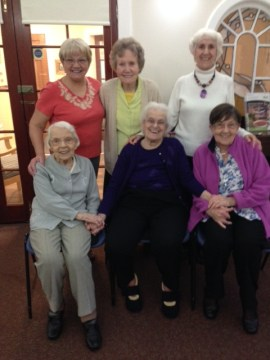 Seated Exrecise group of ladies from Scottish PR Company