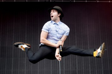 Maximo Park lead singer, Paul Smith, at T in The Park in July 2016