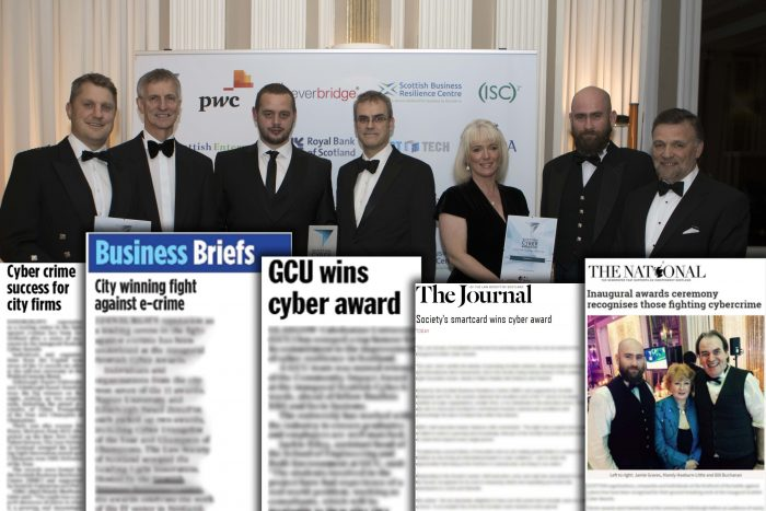 Coverage for the Scottish Business Resilience Centre and their award ceremony.
