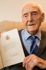 Photography PR Captures Willie with his card from Queen Elizabeth