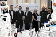 Cyber Awards winners overlaid with cuttings by Award-winning PR