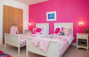 PR Photos of a Law Gardens showhome twin bedroom