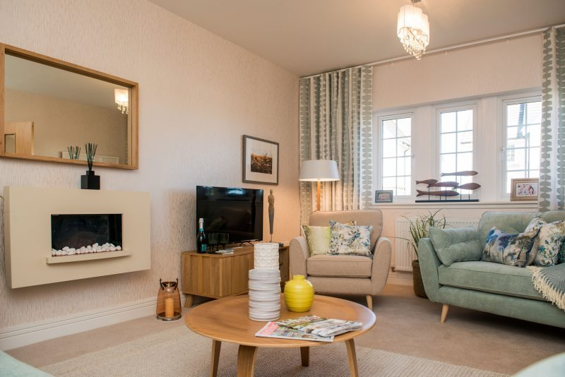 PR Photos of a Law Gardens showhome living room