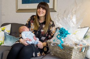 PR Photography shows New mother Louise Inglis and her baby Brodie