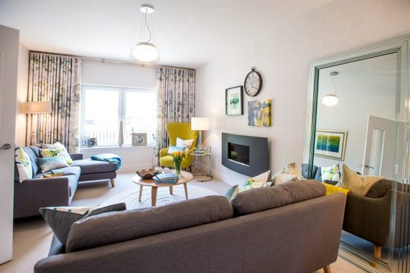 CALA Homes' Kinleith Mills Living Room as shown by PR Photography