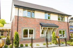 The front garden of CALA Homes Kinleith Mills Showhome as shown by PR Photography