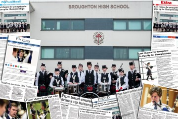 Scottish Schools Pipeband Championships Montage for Charity PR