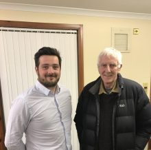 Banks Renewables Lewis Stokes and Brian Broadley, Chairman of Cronberry, Logan and Lugar Community Council.