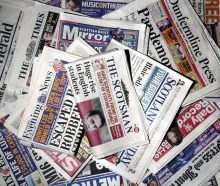 Pile of newspapers from Scottish PR Agency