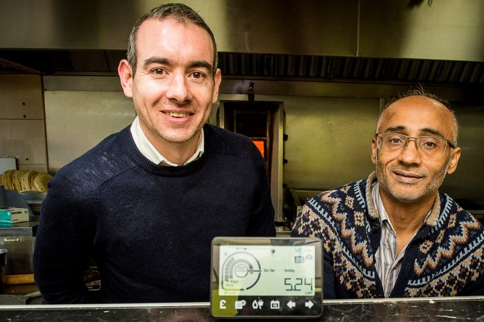 Roddy and Farooq pose for Edinburgh PR story