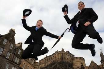Jumping for joy in Edinburgh an image from a column by Scott Douglas, director of PR agency