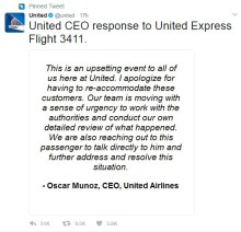 United Airlines Response Tweet In Crisis PR