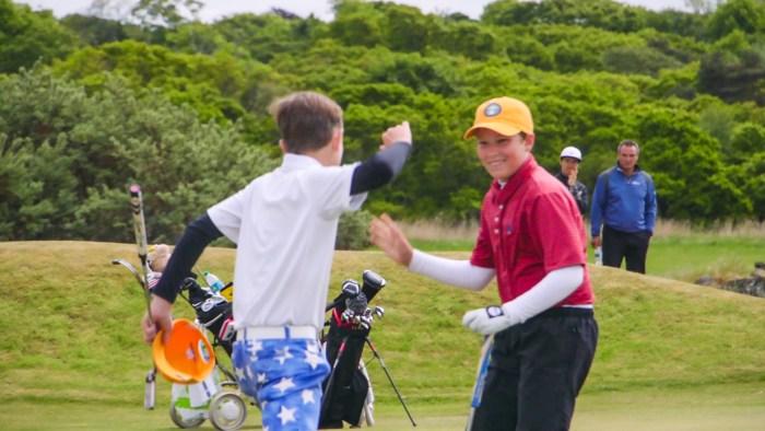 Winning on the 18th of Luffness at U.S. Kids Golf European Champ by Scottish PR Agency
