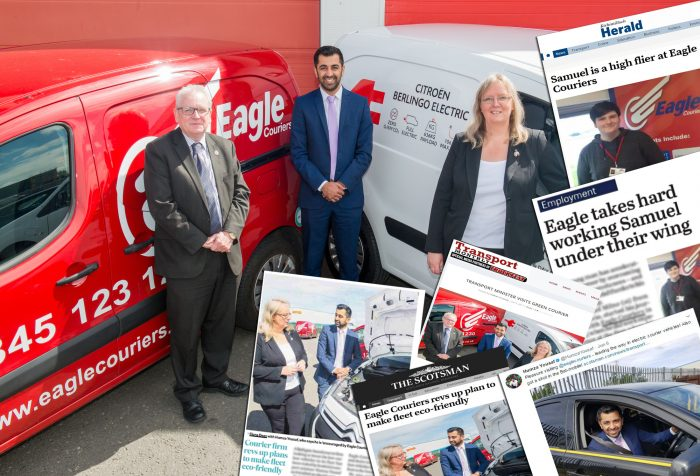 Eagle Courier's great media coverage thanks to Scottish PR