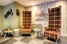 Unusual chairs in the lobby of the Leonardo Hotel in Edinburgh