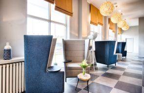 PR photos of the Lobby at Leonardo Hotel in Edinburgh