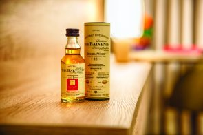 Whisky minature in the room at Leonardo Royal Hotel Edinburgh