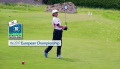 A player from U.S. Kids Golf tees off at European championship