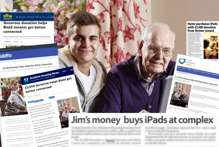 iPad media montage from Care PR