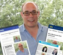 Max Brown overlaid with media coverage from Scottish PR Agency
