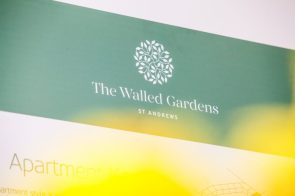 The new luxury homes at Walled Gardens in St Andrews are in full bloom at the Walled Gardens Easter tea party. ©Holyrood PR/Wullie Marr
